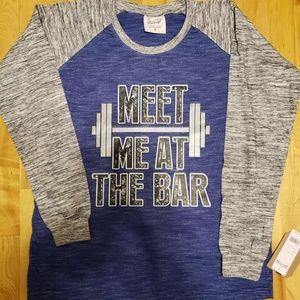 Tops - NWT Raglan Long Sleeve Workout T Shirt